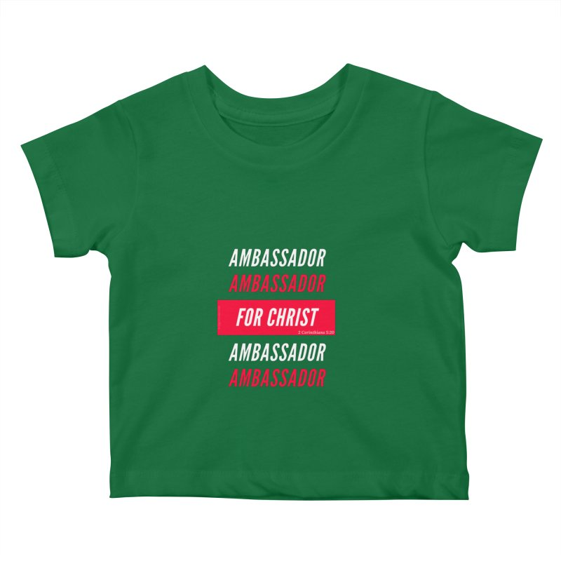 Ambassador For Christ White Letter Kids Baby T-Shirt by Living Virtuous Boutique
