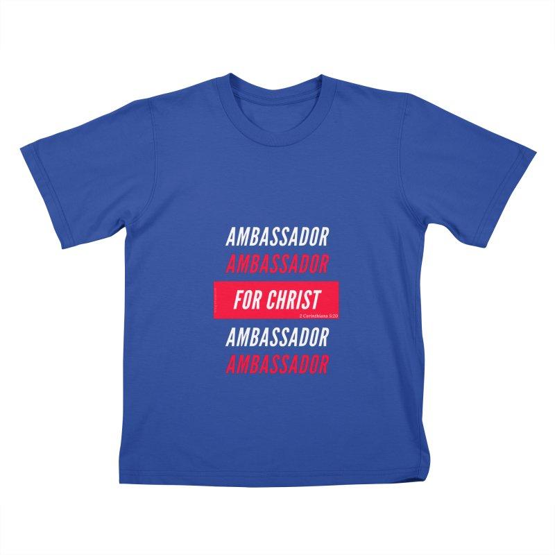 Ambassador For Christ White Letter Kids T-Shirt by Living Virtuous Boutique
