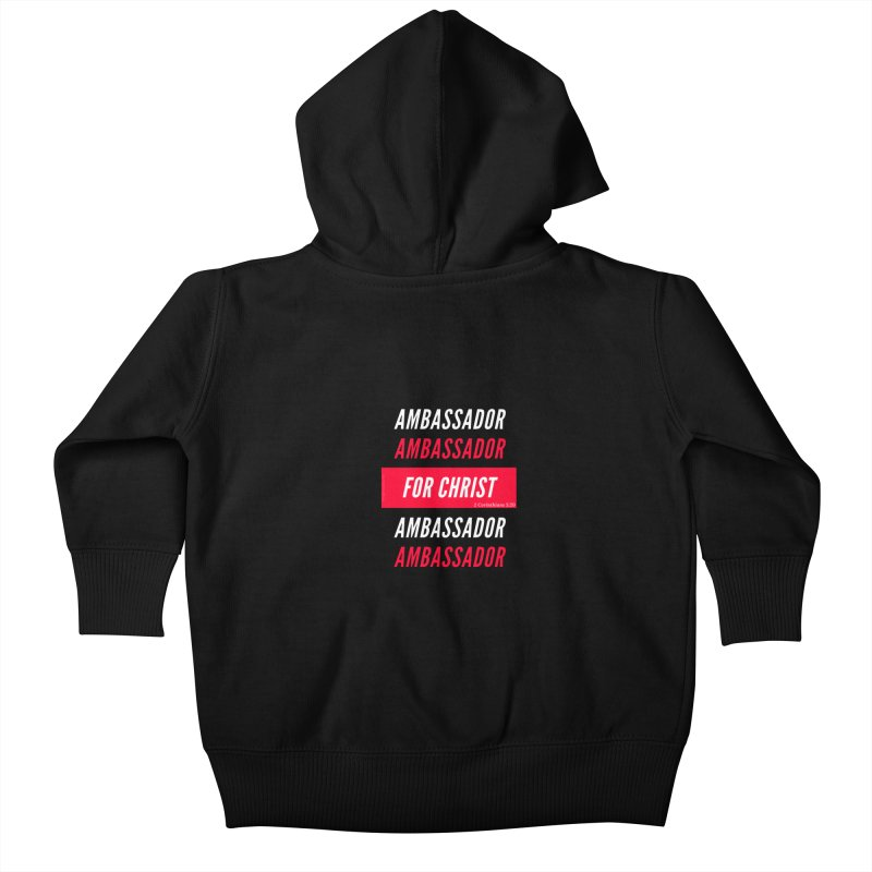 Ambassador For Christ White Letter Kids Baby Zip-Up Hoody by Living Virtuous Boutique