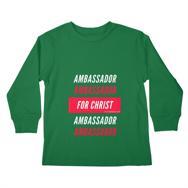 Ambassador For Christ White Letter Kids Longsleeve T-Shirt by Living Virtuous Boutique