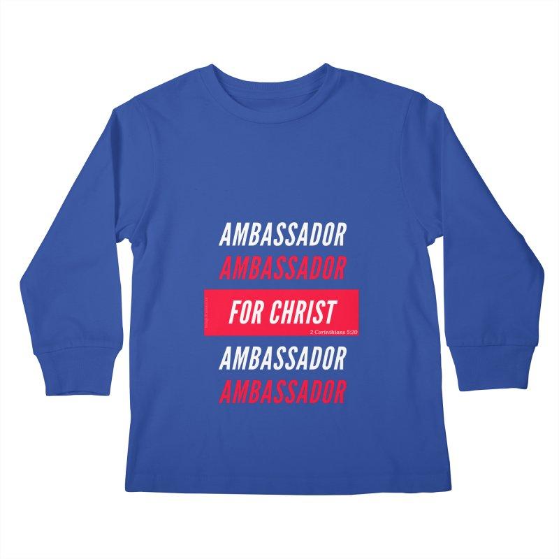 Ambassador For Christ White Letter Kids Longsleeve T-Shirt by Living Virtuous Boutique