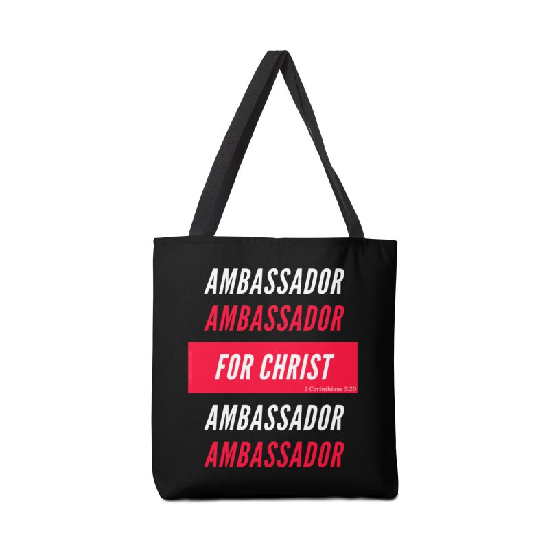 Ambassador For Christ White Letter Accessories Tote Bag Bag by Living Virtuous Boutique