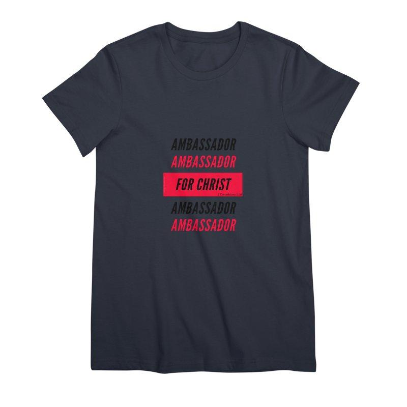 Ambassador Collection Black Letter Women's Premium T-Shirt by Living Virtuous Boutique