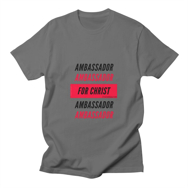Ambassador Collection Black Letter Men's T-Shirt by Living Virtuous Boutique
