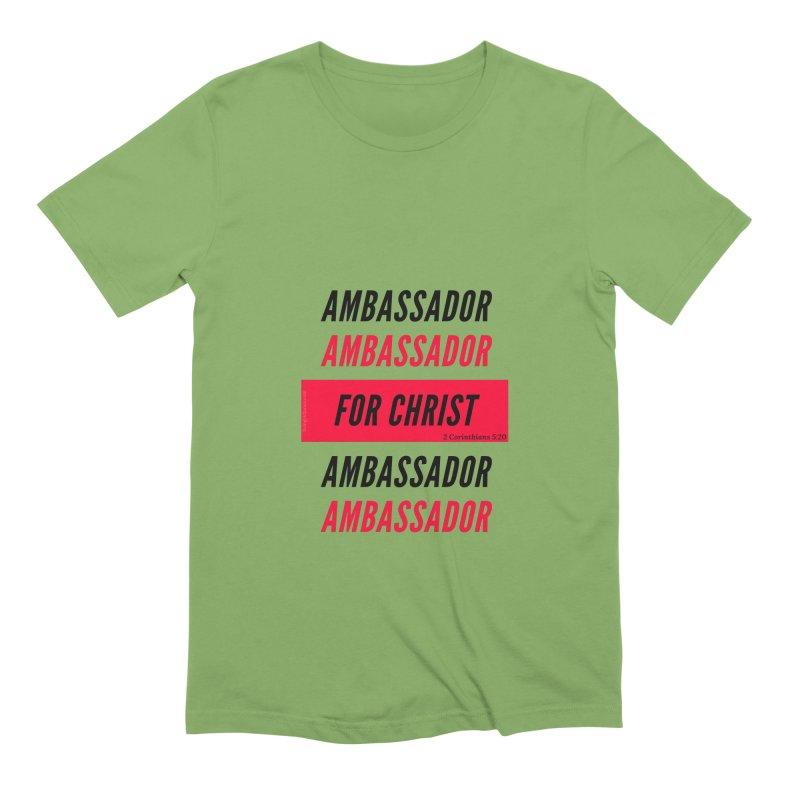 Ambassador Collection Black Letter Men's Extra Soft T-Shirt by Living Virtuous Boutique