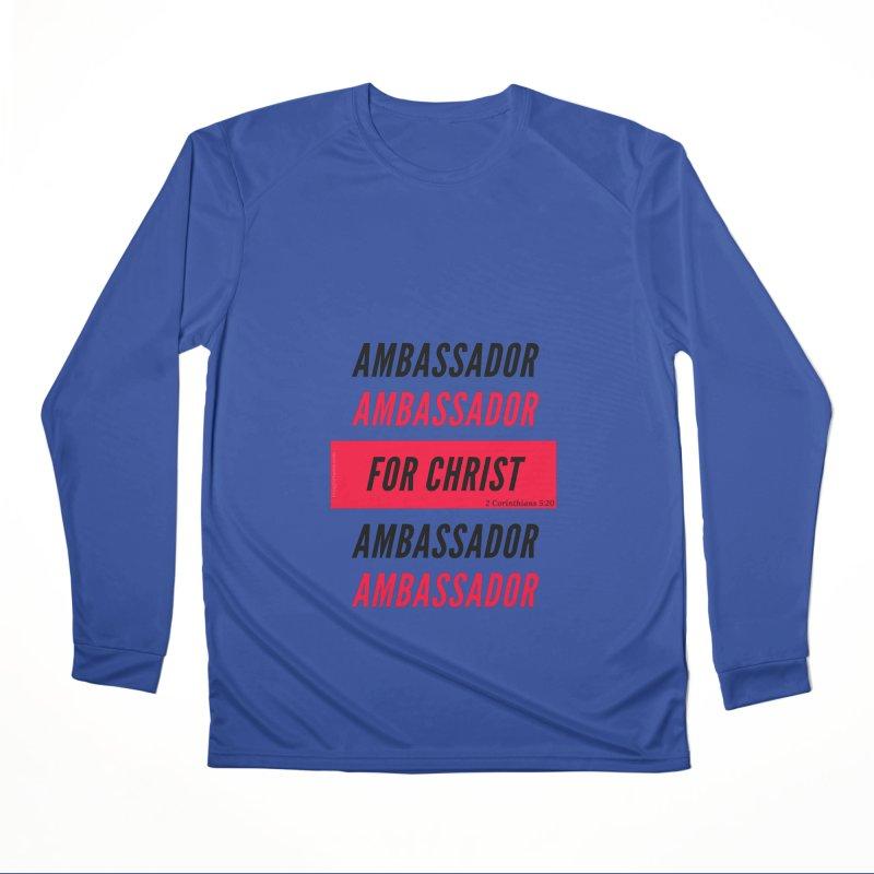 Ambassador Collection Black Letter Men's Performance Longsleeve T-Shirt by Living Virtuous Boutique
