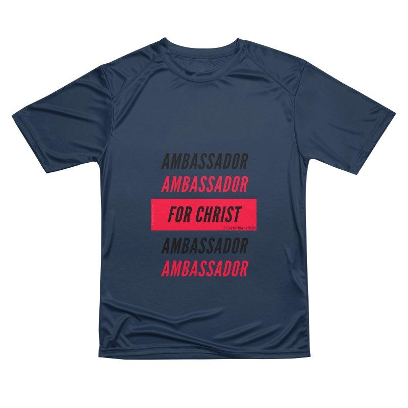 Ambassador Collection Black Letter Men's Performance T-Shirt by Living Virtuous Boutique