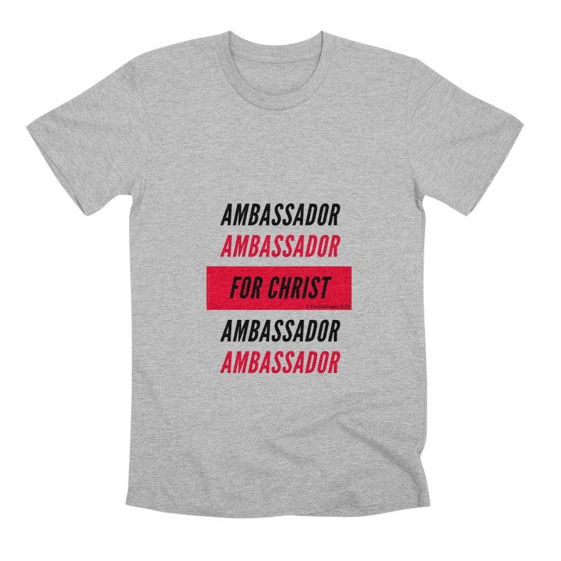 Ambassador Collection Black Letter Men's Premium T-Shirt by Living Virtuous Boutique
