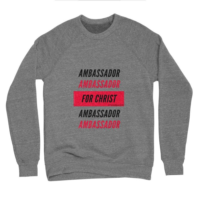 Ambassador Collection Black Letter Women's Sponge Fleece Sweatshirt by Living Virtuous Boutique
