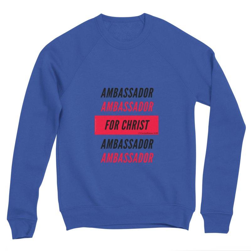 Ambassador Collection Black Letter in Women's Sponge Fleece Sweatshirt Royal Blue by Living Virtuous Boutique