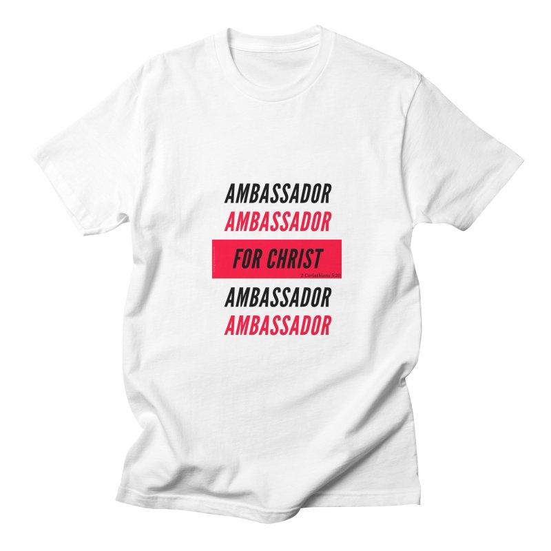 Ambassador Collection Black Letter in Men's Regular T-Shirt White by Living Virtuous Boutique