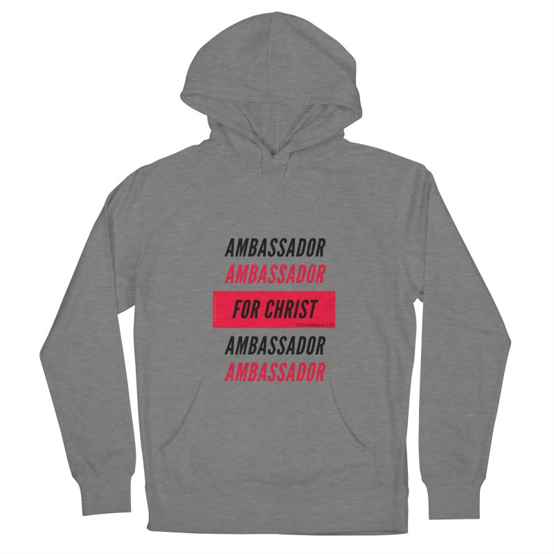Ambassador Collection Black Letter Men's French Terry Pullover Hoody by Living Virtuous Boutique