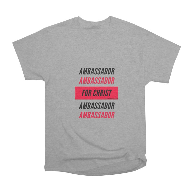 Ambassador Collection Black Letter Women's Heavyweight Unisex T-Shirt by Living Virtuous Boutique