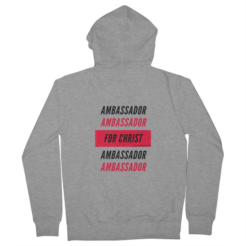 Ambassador Collection Black Letter Men's French Terry Zip-Up Hoody by Living Virtuous Boutique