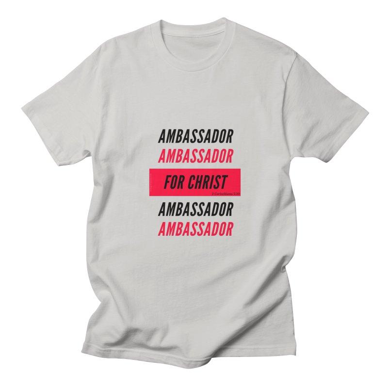Ambassador Collection Black Letter in Women's Regular Unisex T-Shirt Stone by Living Virtuous Boutique