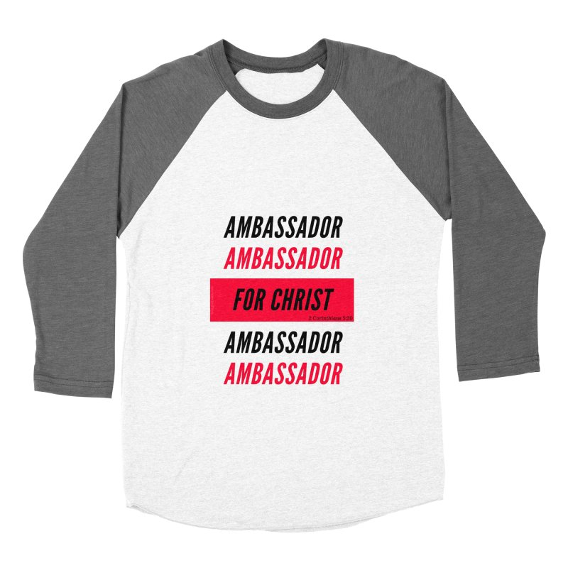 Ambassador Collection Black Letter Women's Baseball Triblend Longsleeve T-Shirt by Living Virtuous Boutique
