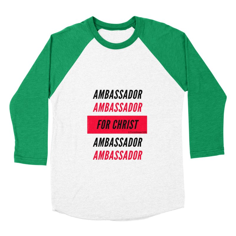 Ambassador Collection Black Letter Women's Baseball Triblend Longsleeve T-Shirt by Living Virtuous Boutique