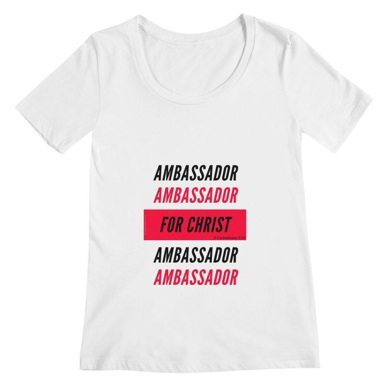Ambassador Collection Black Letter Women's Regular Scoop Neck by Living Virtuous Boutique