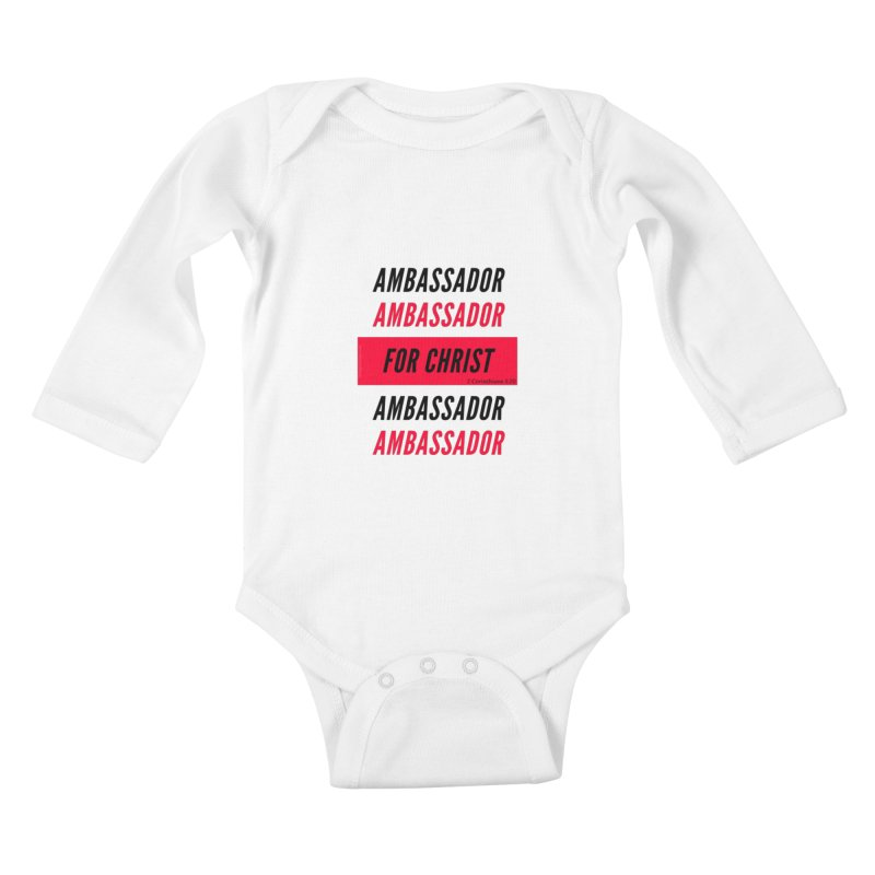 Ambassador Collection Black Letter Kids Baby Longsleeve Bodysuit by Living Virtuous Boutique