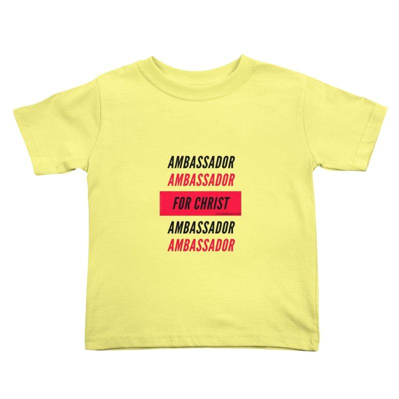 Ambassador Collection Black Letter Kids Toddler T-Shirt by Living Virtuous Boutique