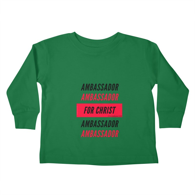 Ambassador Collection Black Letter Kids Toddler Longsleeve T-Shirt by Living Virtuous Boutique