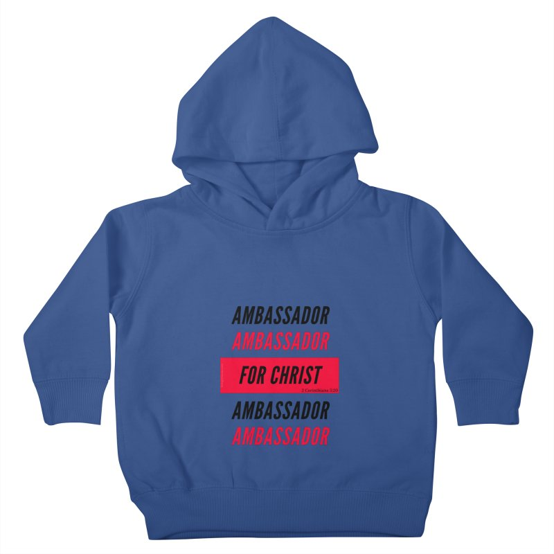 Ambassador Collection Black Letter Kids Toddler Pullover Hoody by Living Virtuous Boutique