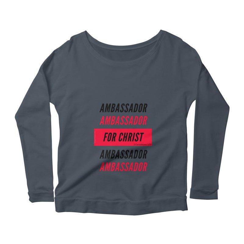 Ambassador Collection Black Letter Women's Scoop Neck Longsleeve T-Shirt by Living Virtuous Boutique
