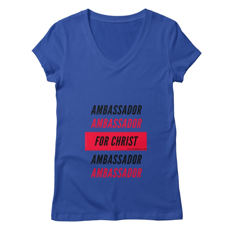 Ambassador Collection Black Letter Women's Regular V-Neck by Living Virtuous Boutique