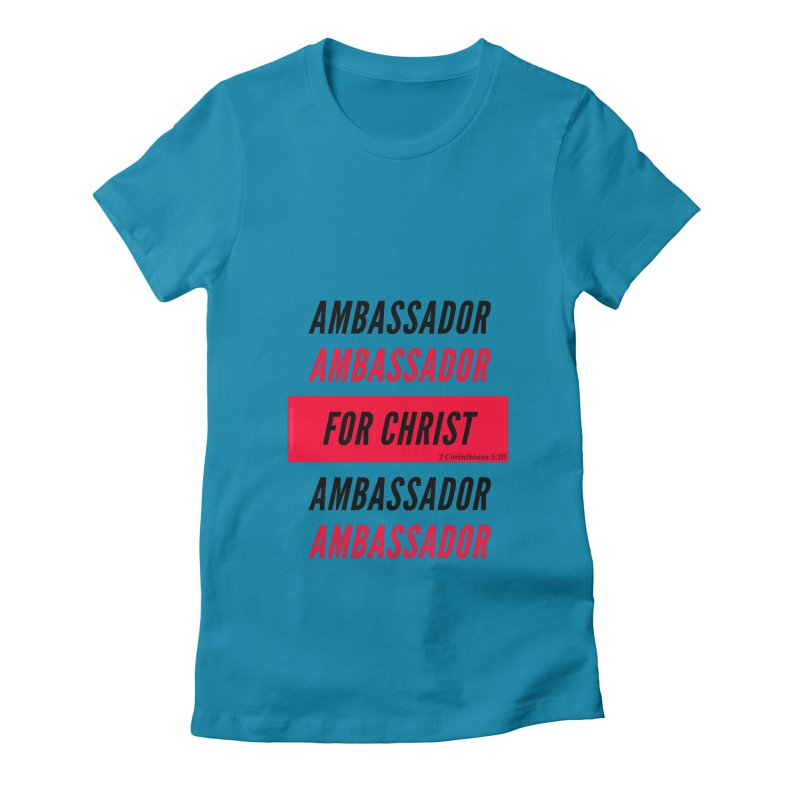 Ambassador Collection Black Letter Women's Fitted T-Shirt by Living Virtuous Boutique