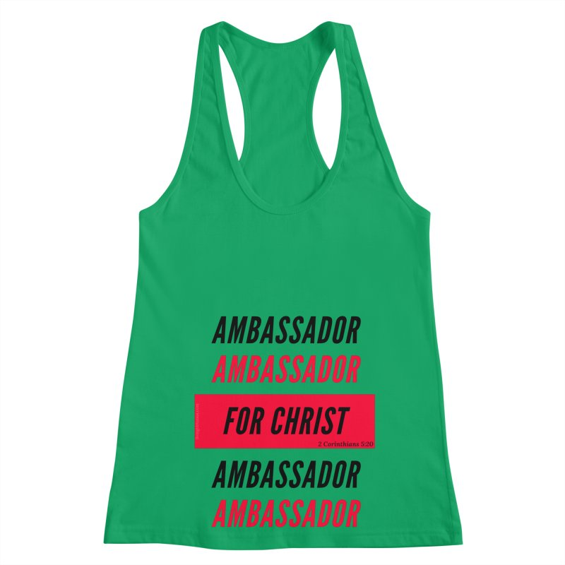 Ambassador Collection Black Letter Women's Racerback Tank by Living Virtuous Boutique