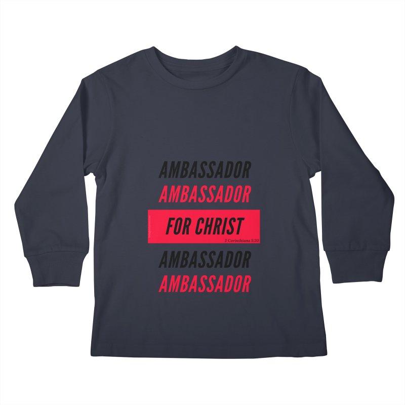 Ambassador Collection Black Letter Kids Longsleeve T-Shirt by Living Virtuous Boutique