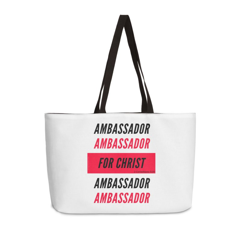 Ambassador Collection Black Letter Accessories Weekender Bag Bag by Living Virtuous Boutique