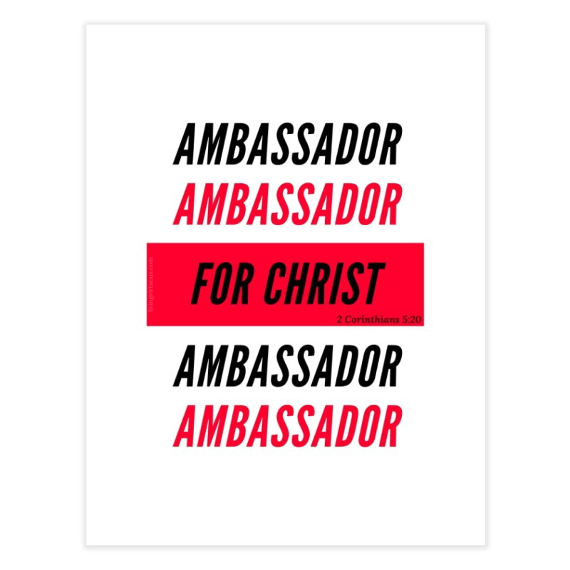 Ambassador Collection Black Letter Home Fine Art Print by Living Virtuous Boutique