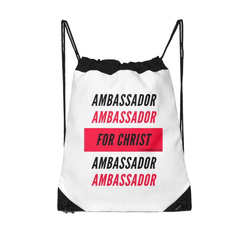 Ambassador Collection Black Letter Accessories Drawstring Bag Bag by Living Virtuous Boutique