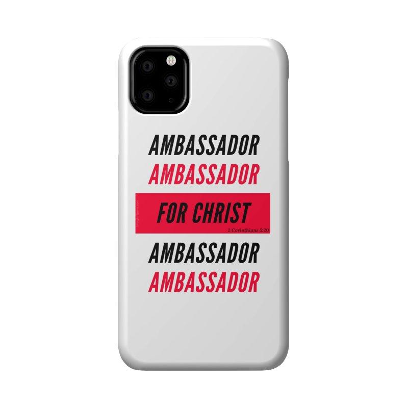 Ambassador Collection Black Letter Accessories Phone Case by Living Virtuous Boutique