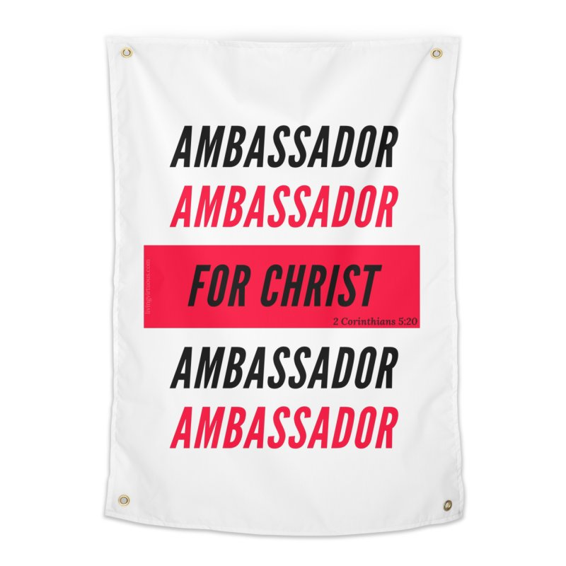 Ambassador Collection Black Letter Home Tapestry by Living Virtuous Boutique