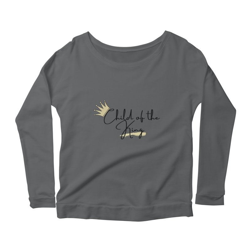 Child of the King (Black Letters) Women's Longsleeve T-Shirt by Living Virtuous Boutique