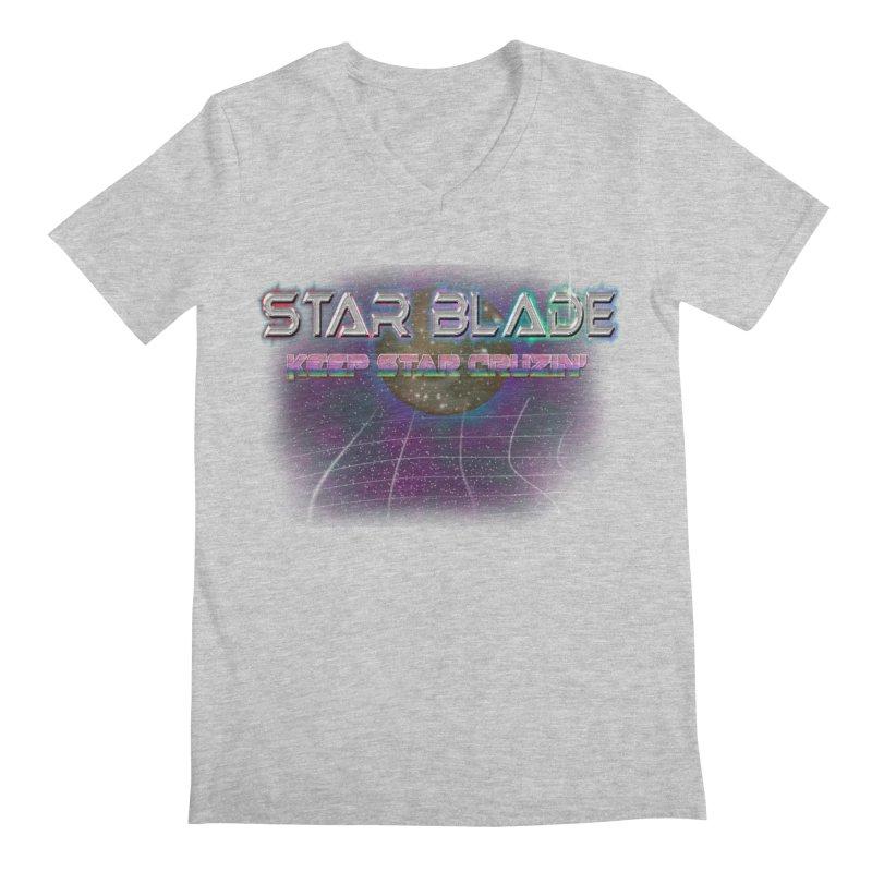 Star Blade Keep Star Cruzin' Men's V-Neck by LlamapajamaTs's Artist Shop