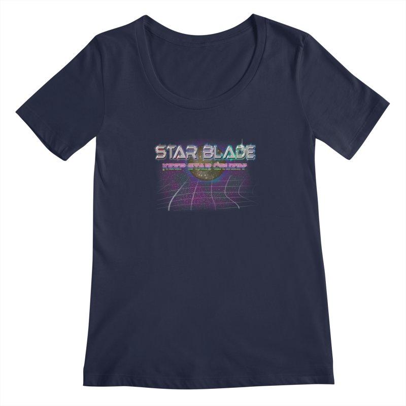 Star Blade Keep Star Cruzin' Women's Scoopneck by LlamapajamaTs's Artist Shop