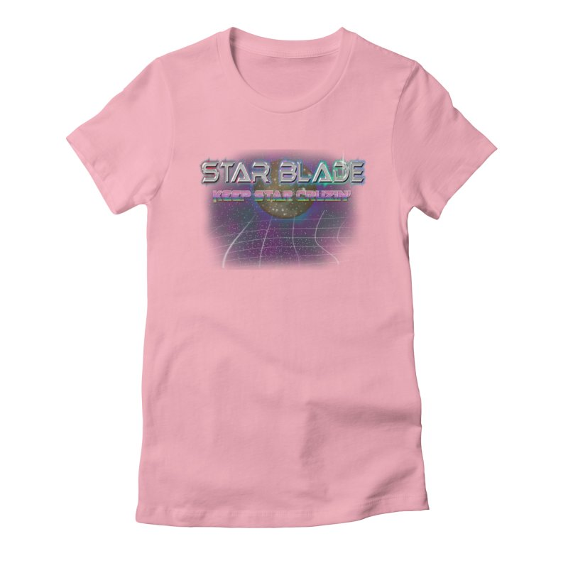 Star Blade Keep Star Cruzin' Women's Fitted T-Shirt by LlamapajamaTs's Artist Shop