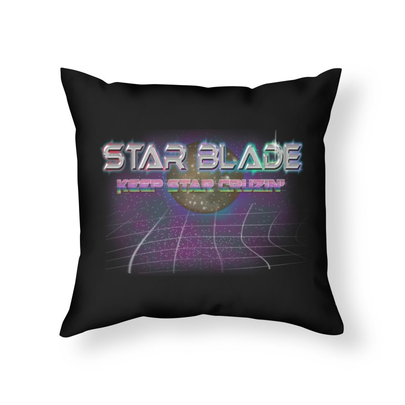 Star Blade Keep Star Cruzin' Home Throw Pillow by LlamapajamaTs's Artist Shop
