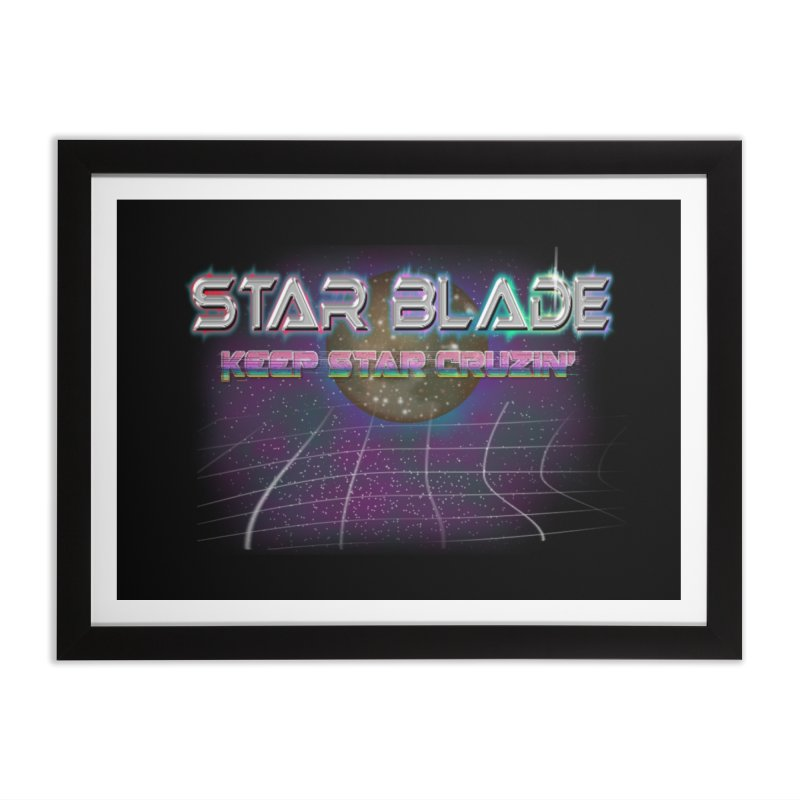 Star Blade Keep Star Cruzin' Home Framed Fine Art Print by LlamapajamaTs's Artist Shop