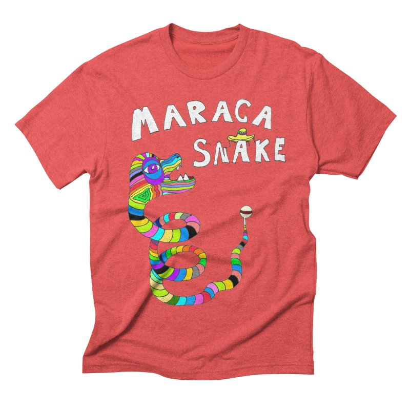 Maraca Snake Men's Triblend T-shirt by LlamapajamaTs's Artist Shop