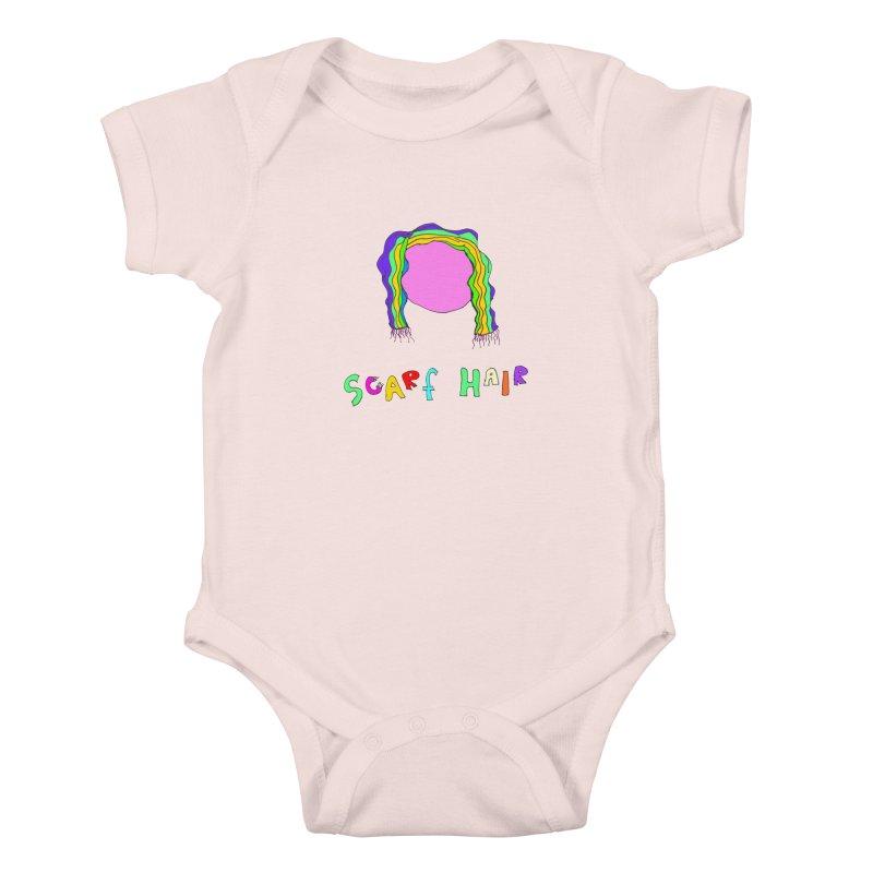 Scarf Hair Kids Baby Bodysuit by LlamapajamaTs's Artist Shop