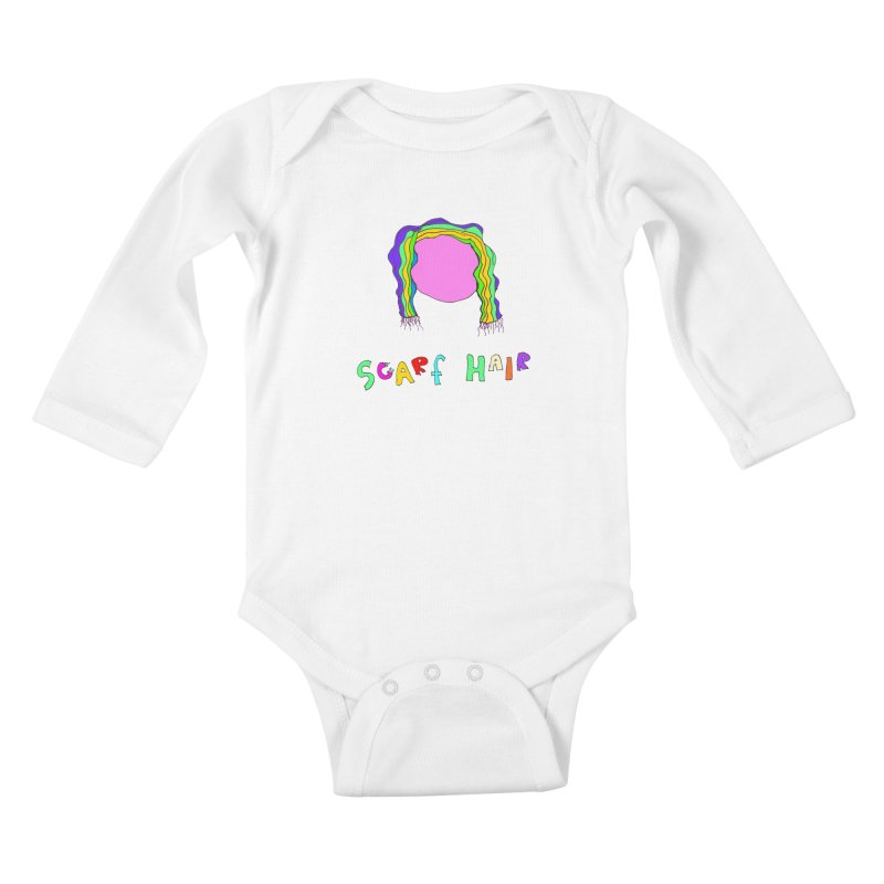 Scarf Hair Kids Baby Longsleeve Bodysuit by LlamapajamaTs's Artist Shop