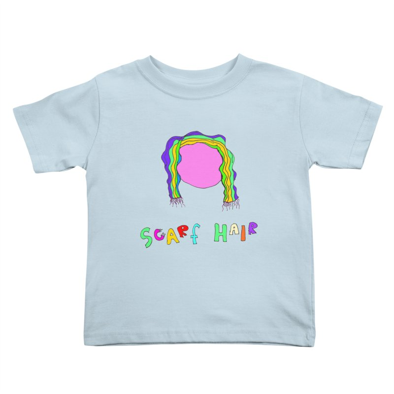 Scarf Hair Kids Toddler T-Shirt by LlamapajamaTs's Artist Shop