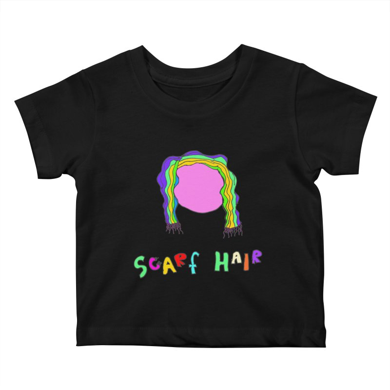 Scarf Hair Kids Baby T-Shirt by LlamapajamaTs's Artist Shop