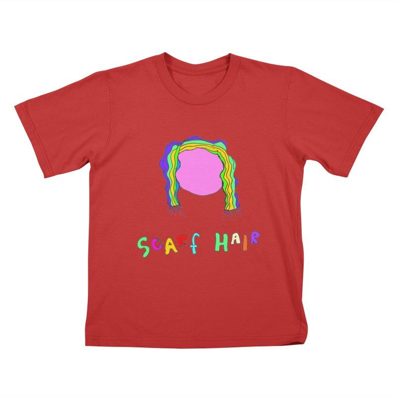 Scarf Hair Kids T-shirt by LlamapajamaTs's Artist Shop