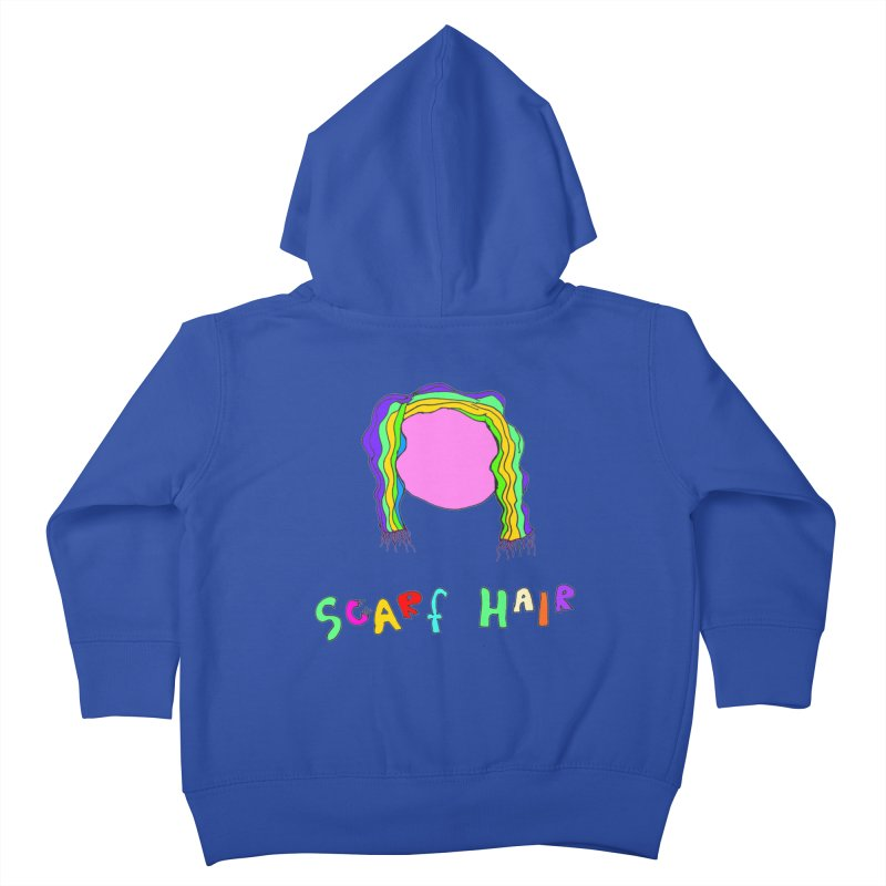 Scarf Hair Kids Toddler Zip-Up Hoody by LlamapajamaTs's Artist Shop