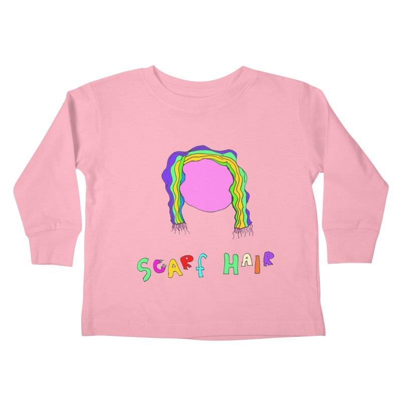 Scarf Hair Kids Toddler Longsleeve T-Shirt by LlamapajamaTs's Artist Shop